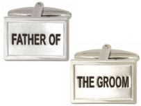Dalaco 90-0228 Father Of The Groom Wedding Rhodium Plated Cufflinks